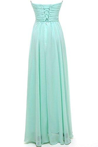 Herzausschnitt Schwarz Partykleider Chiffon Abendkleider Empire Promkleider Bride aus Rock Lang Milano Herrlich E1CwOxqE
