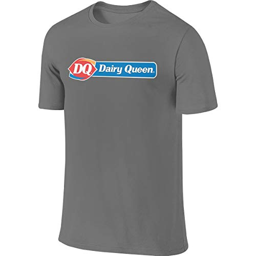 Design Dairy Queen DQ Short Sleeve T-Shirt Geek Adult Men's O-Neck Tees Tops,Deep Heather