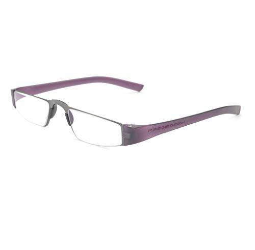 (Porsche Design Ready Made Reading Glasses P8801 H Silver,Violet 48-20 - Unisex + 1.50)