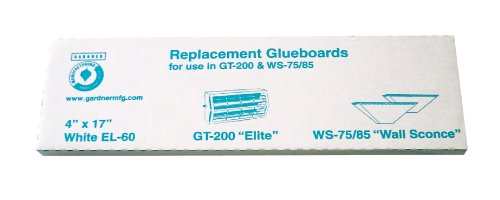 Gardner Wall Sconce WS85 Fly Insect Replacement Glue Boards EL-60 - 1 Pack of - Fly Light Glue