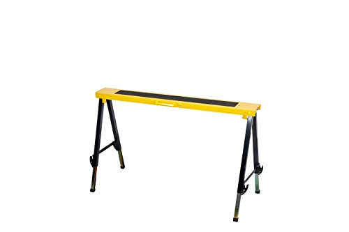 Single Pack Steel Multi Purpose Folding Legs and 12 Position Height Adjustable Sawhorse Brackets Capacity 250LBS by CASTOOL (Image #2)