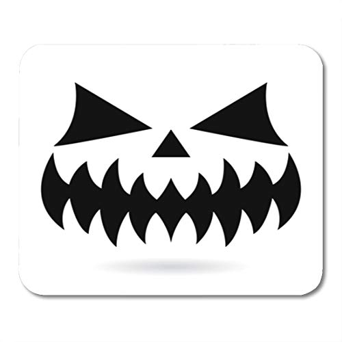 Semtomn Gaming Mouse Pad Scary Halloween Pumpkin Face Vector Design Ghost or Monster Mouth 9.5