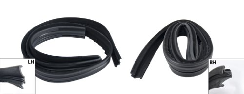 1979-1993 Ford Mustang Coupe & Hatchback Door Window Run Channel Rubber Weatherstrips - Driver & Passenger Side (Side Window Run Channel)