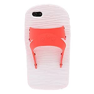 Fashionable 3D Slipper Designed Silicone Soft Case with Holder for iPhone 5/5S Protective Case (s) ,Color: Yellow
