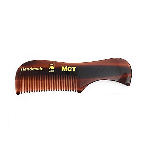 GBS Beard Mustache Comb MCT – Extra Small. Unbreakable Fine Toothed Beard and Moustache Combs Pocket Size for Facial Hair Grooming. Hand-Made Cellulose Acetate, Saw-Cut & Hand Polished 70mm / 2.8″