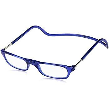 Amazon.com: Clic magnético anteojos de lectura en azul ...