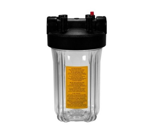 Heavy Duty Clear Full-Flow Big Blue Filter Housing with 1