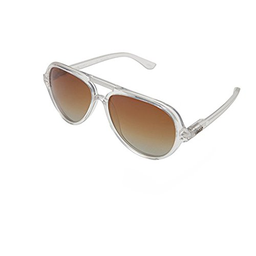 Local Supply Unisex AIRPORT Clear / Brown - Sunglasses Supply Local
