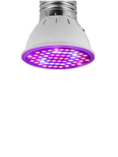 LED Grow Light Bulb for Indoor Plants, LED Grow Lamp, AIMENGTE SMD 3528 E27 Plant Light for Garden, Flowers, Vegetables, Greenhouse, Hydroponic Growing etc. (Without Plug Desk Holder, 60 LEDs)