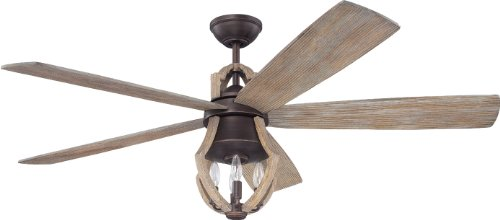 Craftmade WIN56ABZWP5 Ceiling Fan with Blades Included, 56'
