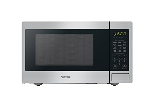 Kenmore 70913 Countertop Microwave, 0.9 cu ft, Stainless Steel (Emerson Stainless Steel Microwave 1-3 Cu Ft)