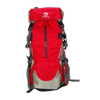 Lelantus 45 + 5L Heavy Duty Wandern Camping -Reisen -Rucksack-Beutel Red
