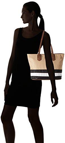Sansibar - Sac shopping pour femme multicolore (noir / blanc / taupe)