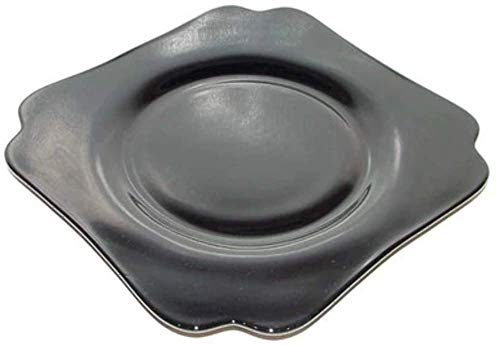 - Cambridge #3400 Black Amethyst Depression Glass Plate - 7.5 in.