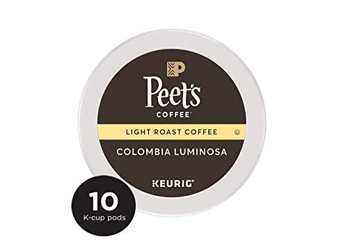 Peet's Coffee Colombia Luminosa Light Roast Coffee K-Cup Coffee Pods (10 Count)