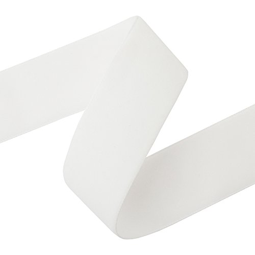 Premium Swiss Velvet Ribbon - Sold by the Yard (2'' x 5 Yards, Off White) by M&J Trimming