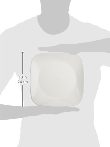 Corelle Square Pure White 9-Inch Plate Set (6-Piece) by Corelle (Image #2)