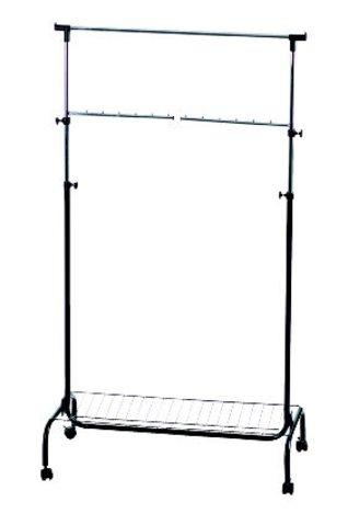 Alco Garderobe Mobil Fahrbar Aus Metall 180 X 90 X 45 Cm Amazon De