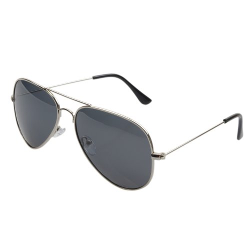 FSK Polarized Classic Aviator Metal Frame Sunglasses FSK3025 57mm (silver, - Aviator Sunglasses Mini
