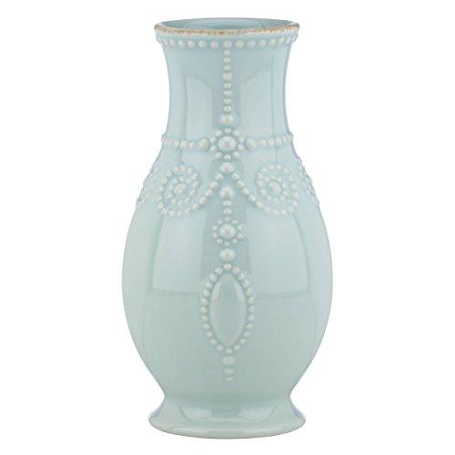 """Lenox French Perle Ice Blue 8"""" Fluted Vase - 869509"""
