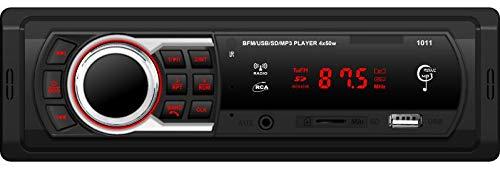 GJY Audio 12-24V Car Stereo - Single Din, Bluetooth Audio/Calling, MP3/USB/WMA/AUX/FM Radio, Black(No CD/DVD)