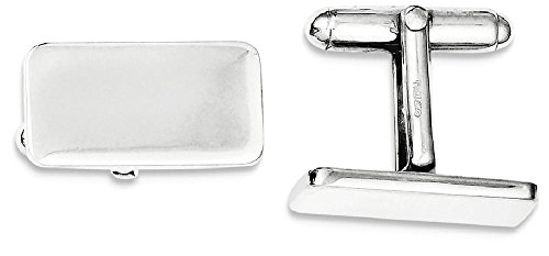 ICE CARATS 925 Sterling Silver Cuff Links Mens Cufflinks Man Link Fine Jewelry Dad Mens Gift Set (Set Sterling Silver Cufflinks)