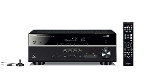 Yamaha RX-V385 5.1-Channel 4K Ultra HD AV Receiver with Bluetooth (Renewed) (Best Yamaha Home Theater Receiver)