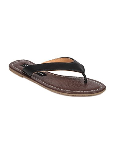 g Sandal - Flip Flop - Leatherette Pool Slide - HA65 by Lounge - Black Leatherette (Size: 7.5) (Leatherette Lounge)