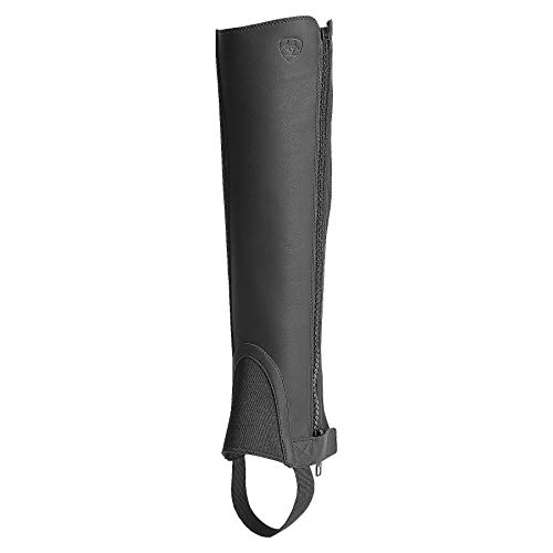 Milwaukee Leather Womens Knee High Half Chap w//Zipper Entry-BLACK-2X-SMALL//X-SMALL Black XX-Small//X-Small