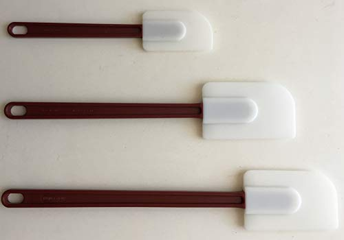 (Set of 3 Sizes Silicone Spatula Scraper Heat Resistant up to 500 Degree )