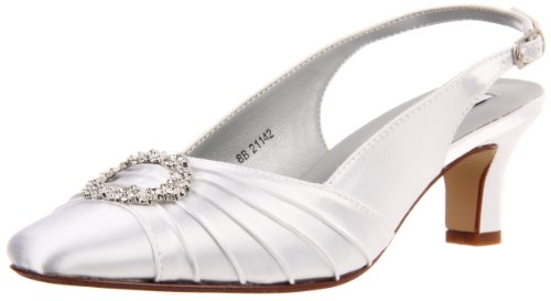 - Dyeables Women's Ann Pump,White Satin,8 M US