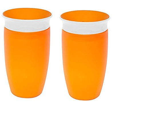 Munchkin Miracle 360 Sippy Cup, Orange, 10 Ounce, 2 Count
