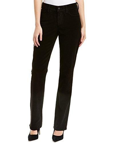 Marilyn Straight Leg Corduroy (NYDJ Women's Marilyn Straight Leg Jeans In Corduroy, Black 1077, 18)