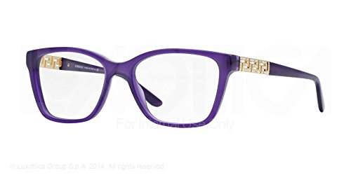Versace OVE 3192B 5095 Violet Gold Glitz Acetate 52 mm Optic Lens Eyeglasses - New Versace Eyeglasses
