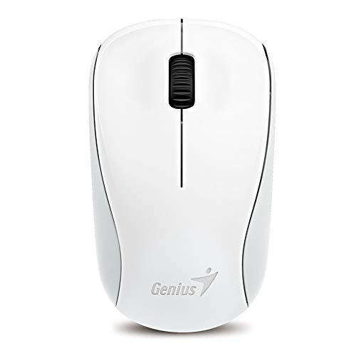 Genius 2.4GHz High Precision Optical Programmable Wireless Mouse BlueEye Engine (NX-7000 Elegant White)