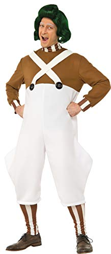 Rubie's Costume Co Willy Wonka & the Chocolate Factory Deluxe Oompa Loompa Costume, Multi, Standard -