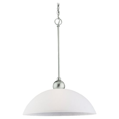 Metropolis One 962 Light (Sea Gull Lighting 65035-962 Metropolis One-Light Pendant, Brushed Nickel Finish with Satin Etched Glass)