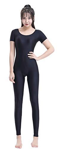 Unitard Dancewear (Speerise Womens Spandex Lycra Short Sleeve Bodysuit Unitard Dancewear Costume)