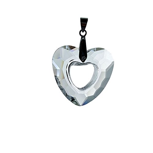 Crystal Florida #7217-32, Faceted Full Lead Open Heart Pendant or Ornament