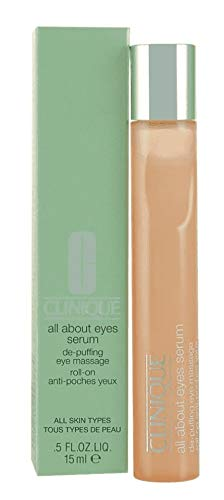 Clinique All About Eyes Serum for All Skin Types for Unisex, 0.5 Ounce (Best Drugstore Eye Roller)
