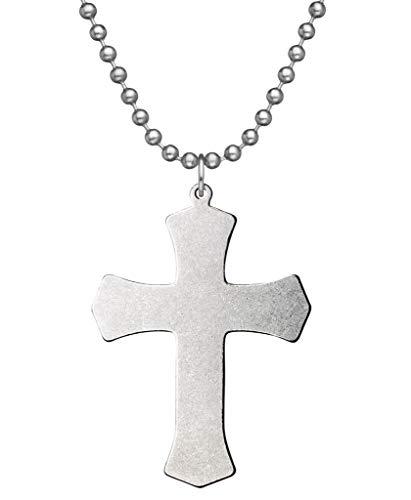 GI JEWELRY - Genuine U.S. Military Issue Warrior Cross With Beaded Chain - 24