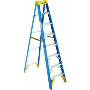 Werner 6008 250-Pound Duty Rating Type I Fiberglass Stepladder, 8-Foot by Werner