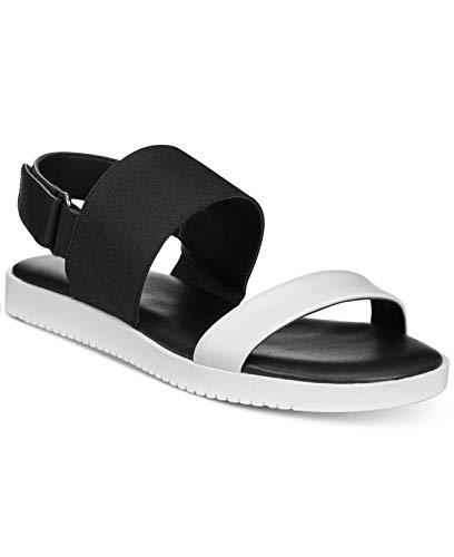 Alfani Womens Slingback - Alfani Womens Shaee Open Toe Casual Slingback, Black/White Multi, Size 9.0