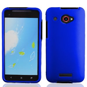 Bundle Accessory for Verizon HTC Droid DNA 6435 - Blue Hard Case Protector Cover + Lf Stylus Pen + Lf Screen (Cover Htc Droid Dna 6435)