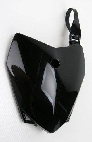 UFO Plastic Black Front Number Plate