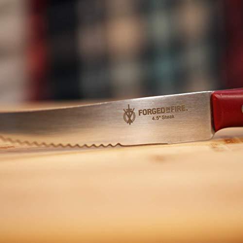 HISTORY - Forjado en fuego - 4.5 pulgadas cuchillo de carne ...