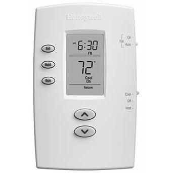 Honeywell Pro 2000 Vertical sola etapa calor/frío termostatos programables – Negro y Blanco –