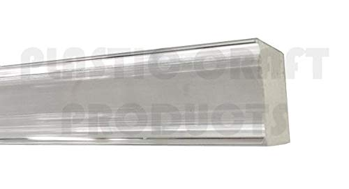 72 x 1//8 x 5//8 Pack of 10 - Clear Extruded Acrylic Rectangular Bar