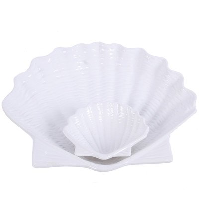 DEI Shell Embossed Chip and Dip, White by DEI