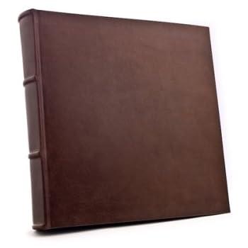 Handmade Italian Leather Bound Photo Album Wedding Scrapbook With 100 Acid Free